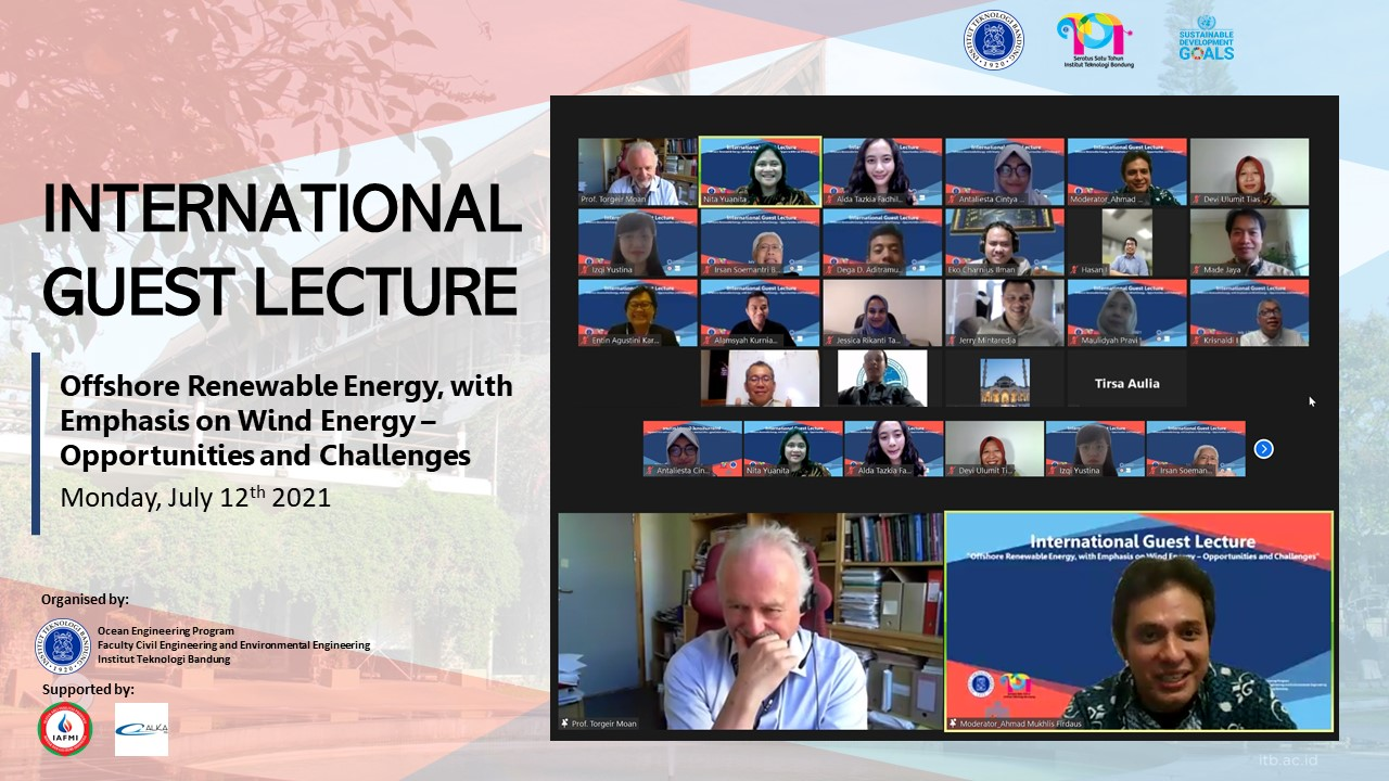 International Guest Lecture Prof Torgeir Moan